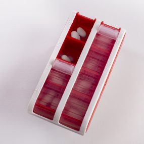 Schine Pill Box S, röd